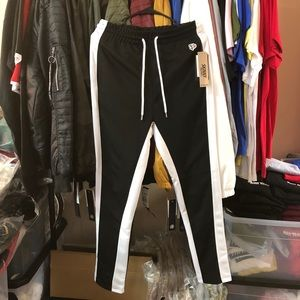 Pants - Track Pants II - Black/White